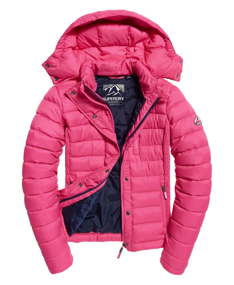 Superdry-Womens-Fuji-Slim-Double-Zip-Hooded-Jacket thumbnail 97