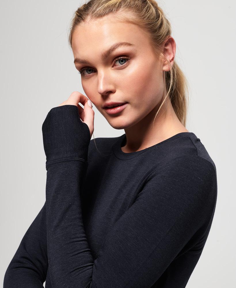Superdry-Damen-Active-Studio-Luxe-Rundhals-Sweatshirt Indexbild 9