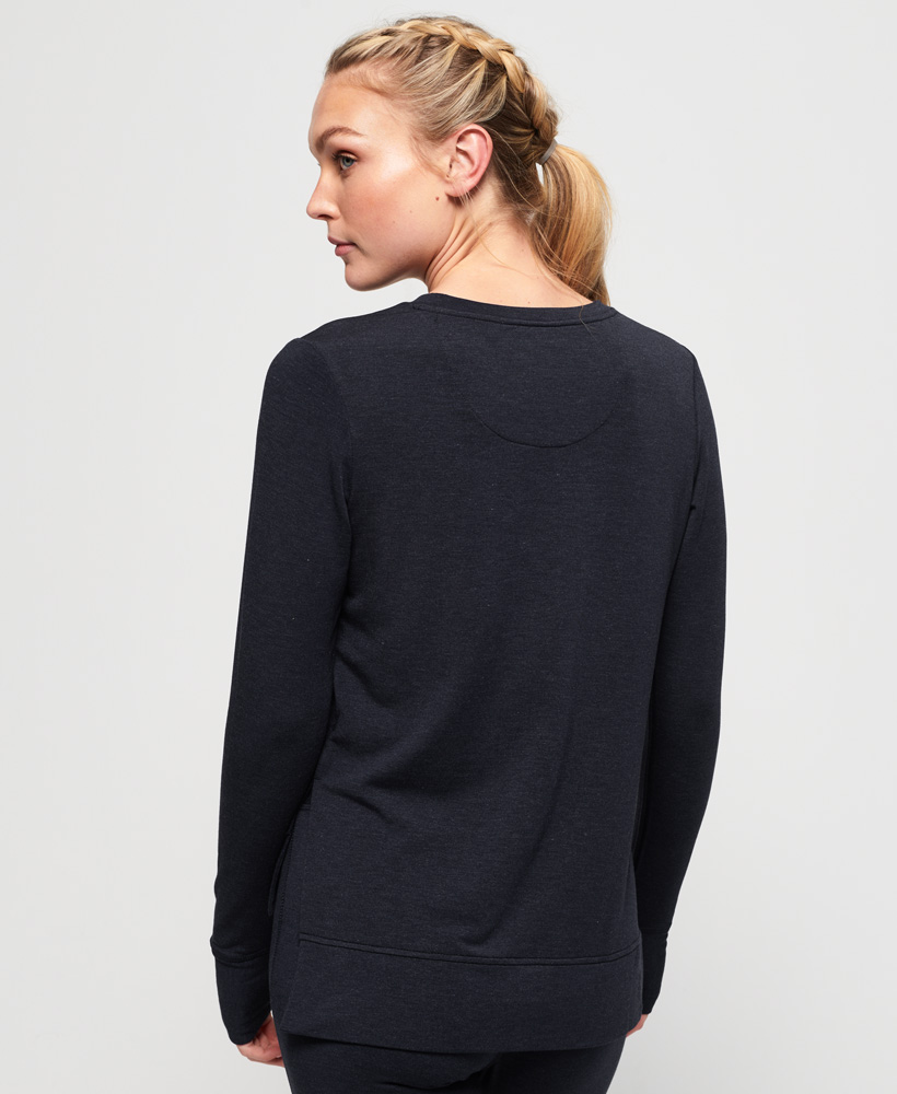Superdry-Damen-Active-Studio-Luxe-Rundhals-Sweatshirt Indexbild 8