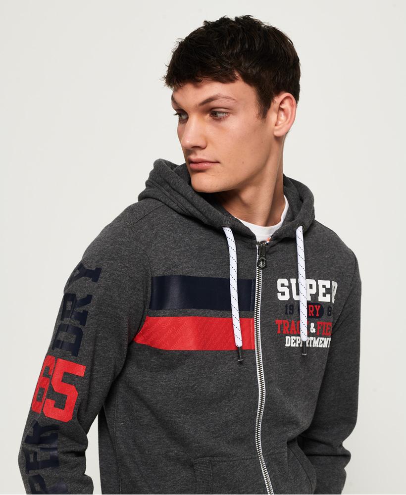 Details about Superdry Track & Field Lite Zip Hoodie
