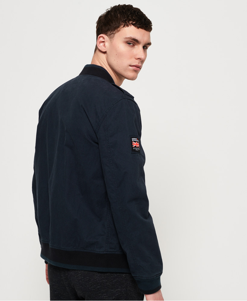 Superdry Men/'s Navy Blue Rookie Duty Bomber Full Zip Jacket