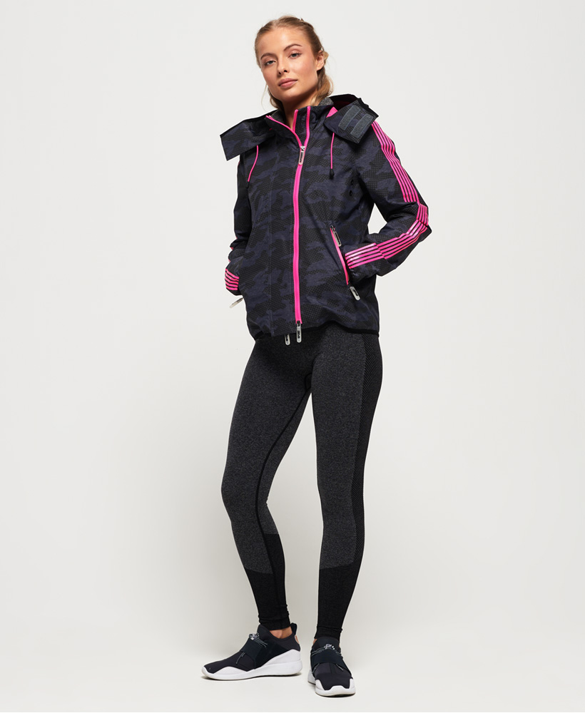 Superdry Damen Windsprinter Funktionsjacke Mit Tarnmuster