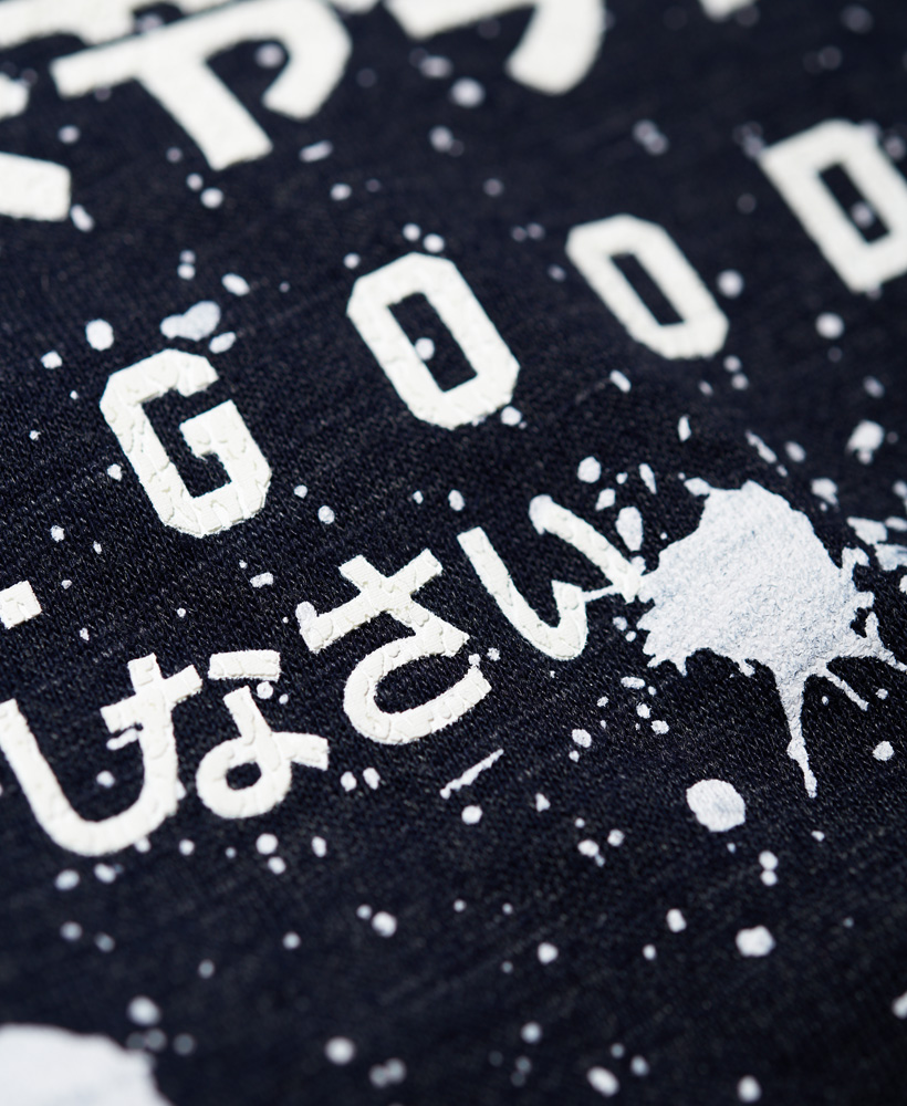 Superdry-Premium-Goods-T-Shirt-mit-Farbspritzer-Print miniatura 14