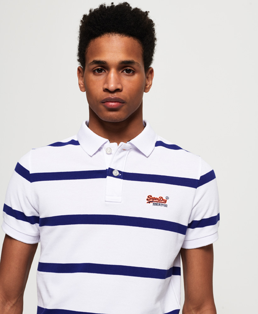 New Mens Superdry Beach Volleyball Polo Shirt Sport Navy