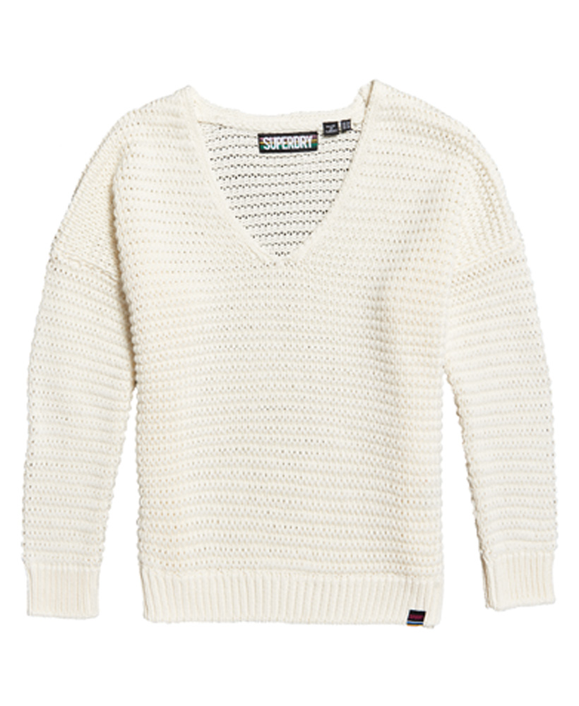 Details about Superdry Womens Eloise Textured Open Knit