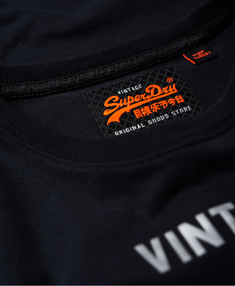 Superdry-Mittelschweres-Vintage-Logo-Authentic-T-Shirt Indexbild 6