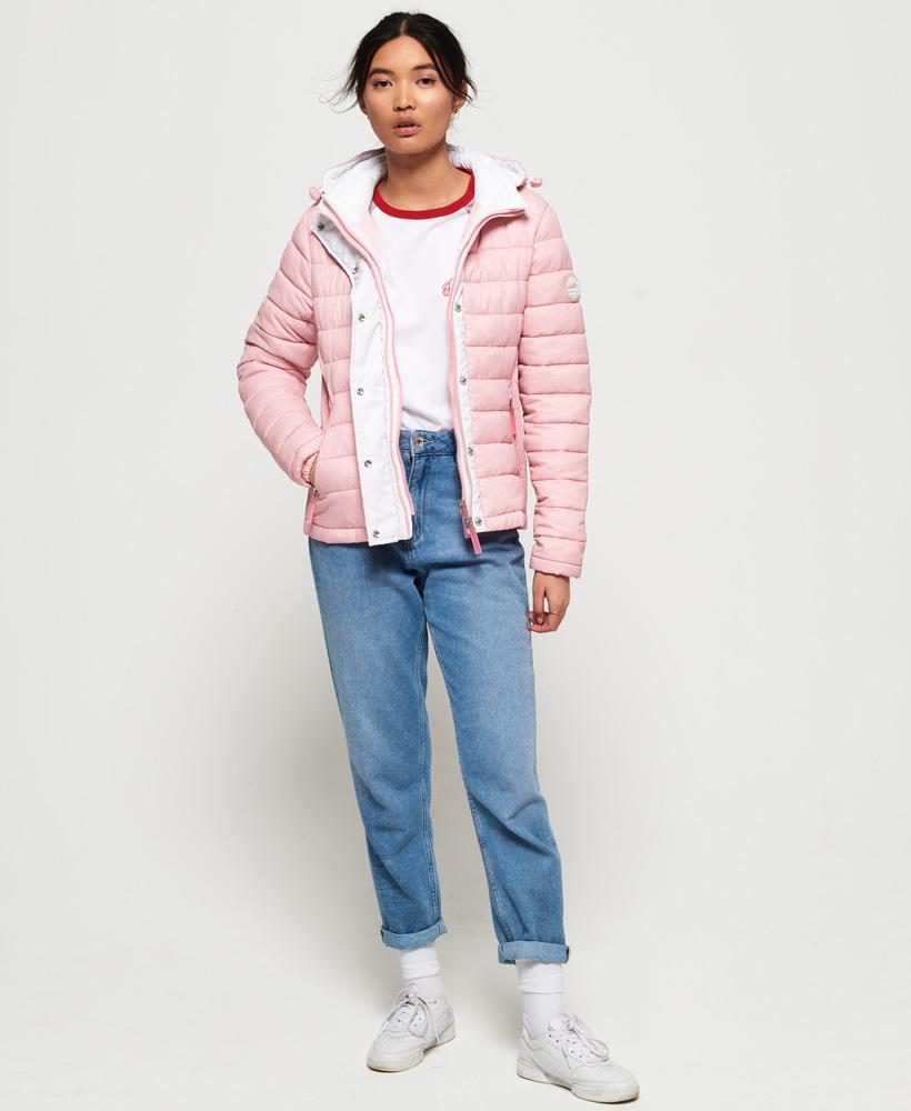 Superdry-Womens-Fuji-Slim-Double-Zip-Hooded-Jacket thumbnail 91