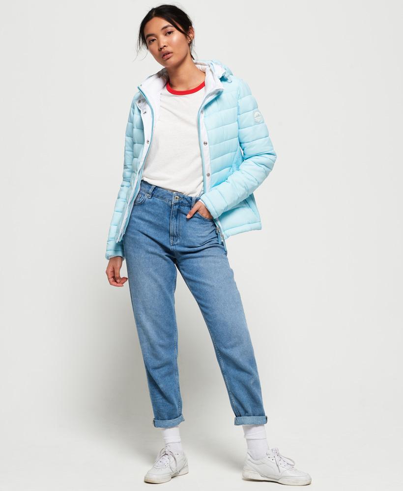 Superdry-Womens-Fuji-Slim-Double-Zip-Hooded-Jacket thumbnail 85