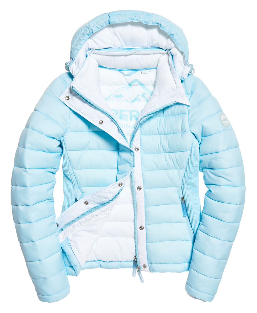 Superdry-Womens-Fuji-Slim-Double-Zip-Hooded-Jacket thumbnail 84