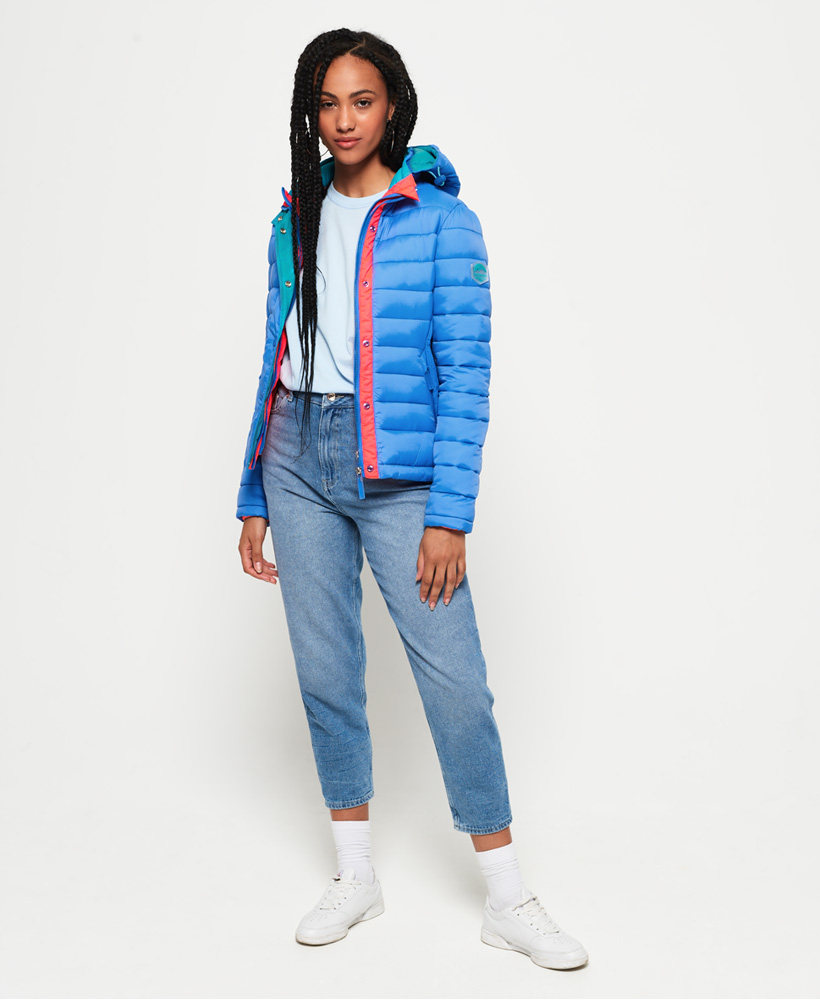 Superdry-Womens-Fuji-Slim-Double-Zip-Hooded-Jacket thumbnail 30