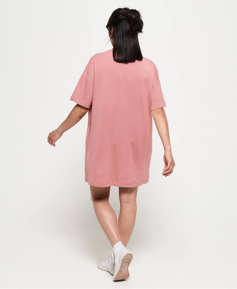 Superdry Damen T-Shirt-Kleid Im Boyfriend-Stil