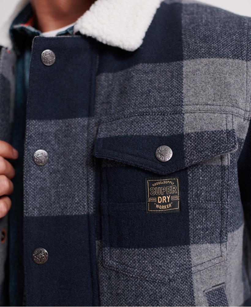 Superdry-Mens-Hacienda-Wool-Check-Jacket thumbnail 10