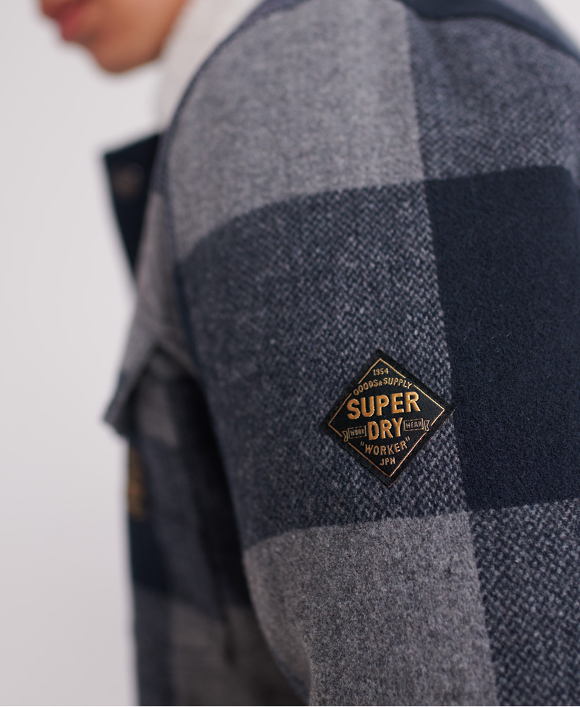 Superdry-Mens-Hacienda-Wool-Check-Jacket thumbnail 11