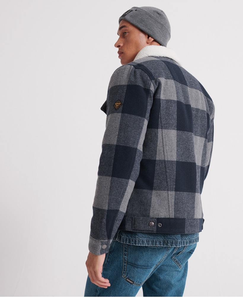 Superdry-Mens-Hacienda-Wool-Check-Jacket thumbnail 9