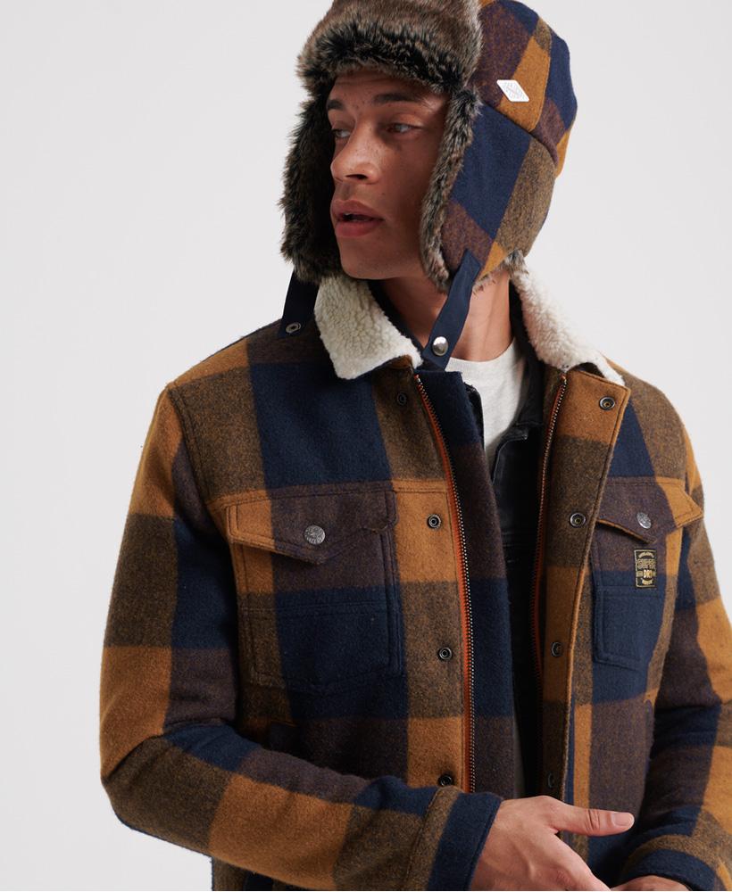 Superdry-Mens-Hacienda-Wool-Check-Jacket thumbnail 15