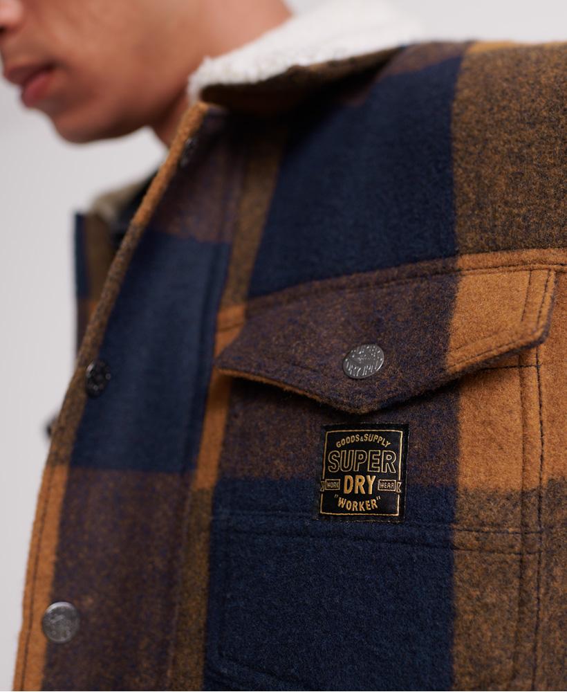 Superdry-Mens-Hacienda-Wool-Check-Jacket thumbnail 17