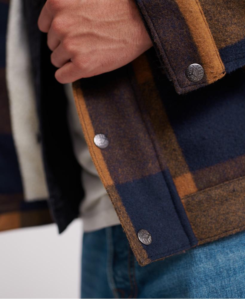 Superdry-Mens-Hacienda-Wool-Check-Jacket thumbnail 16