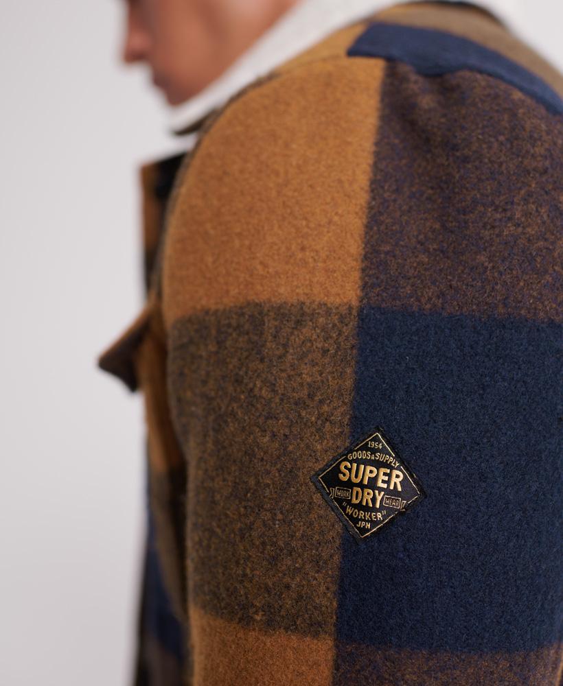 Superdry-Mens-Hacienda-Wool-Check-Jacket thumbnail 18
