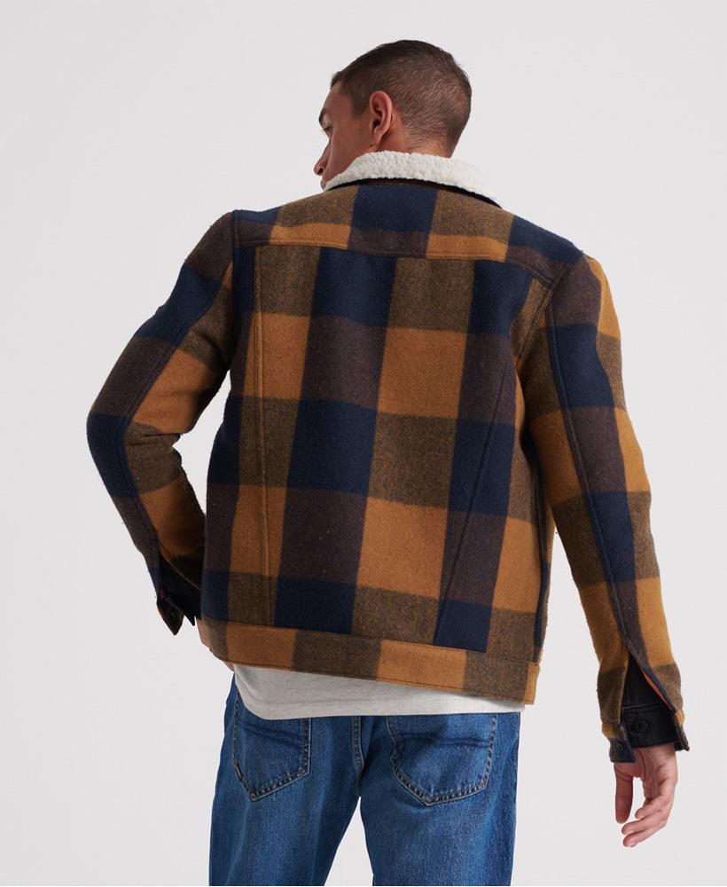 Superdry-Mens-Hacienda-Wool-Check-Jacket thumbnail 14