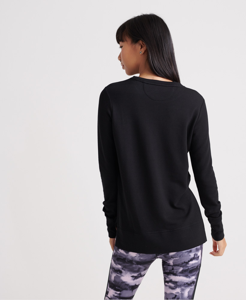 Superdry-Damen-Active-Studio-Luxe-Rundhals-Sweatshirt Indexbild 20