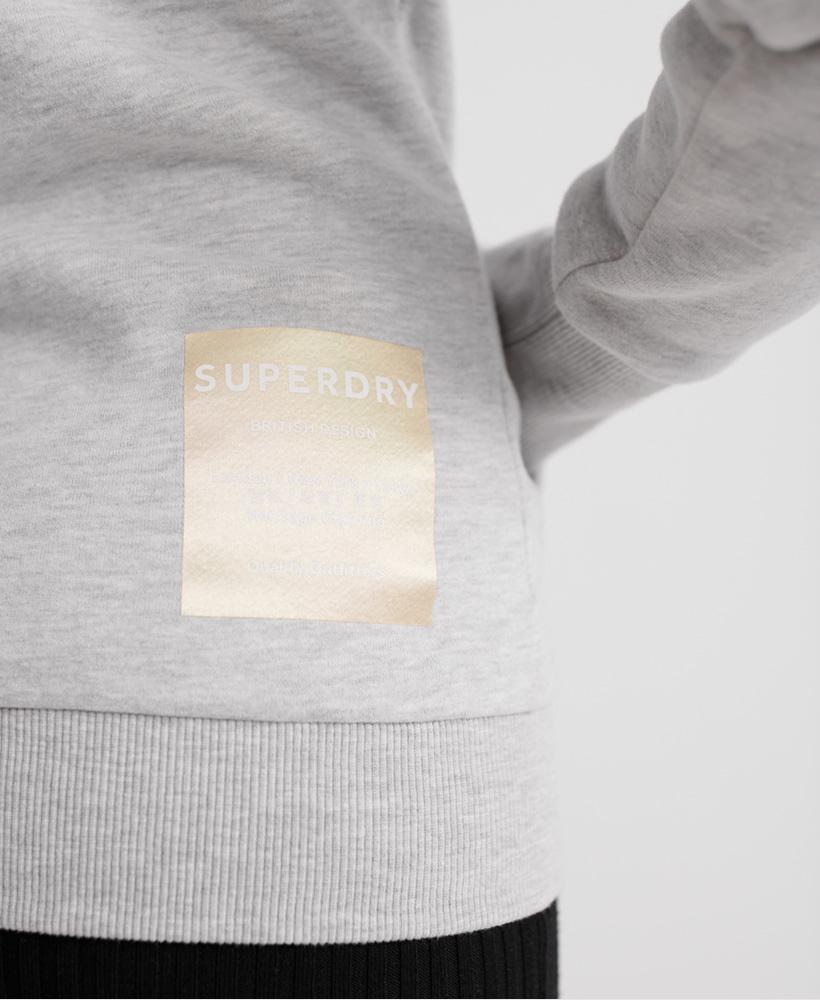 Superdry Damen Nyc Studio Kapuzenjacke Mit Folien-Print