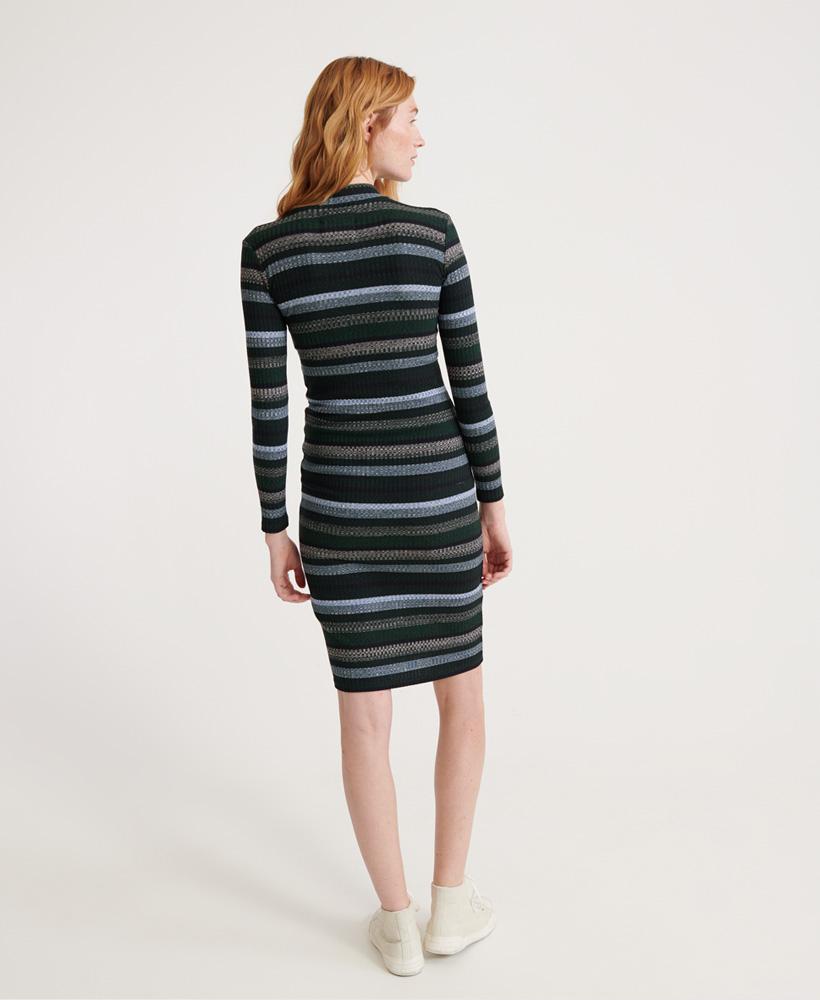 Superdry Womens Stripe Rib Midi Dress