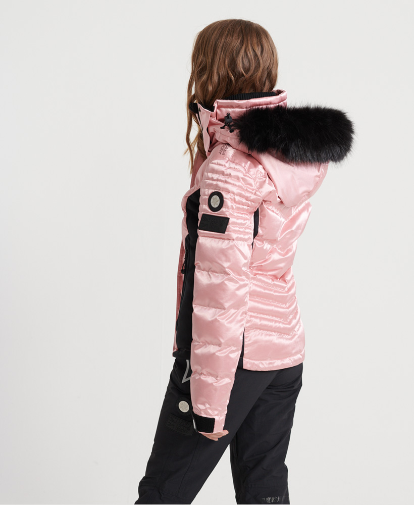 Superdry Damen Luxe Snow Pufferjacke