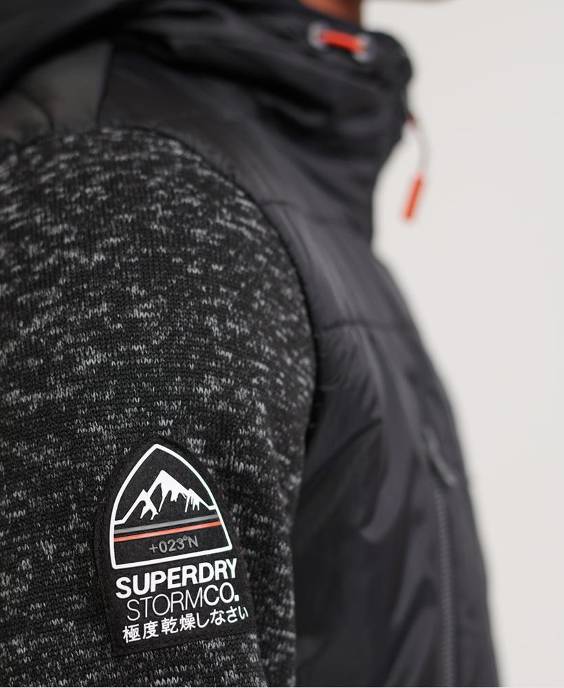 thumbnail 10 - Superdry-Mens-Storm-Hybrid-Zip-Hoodie