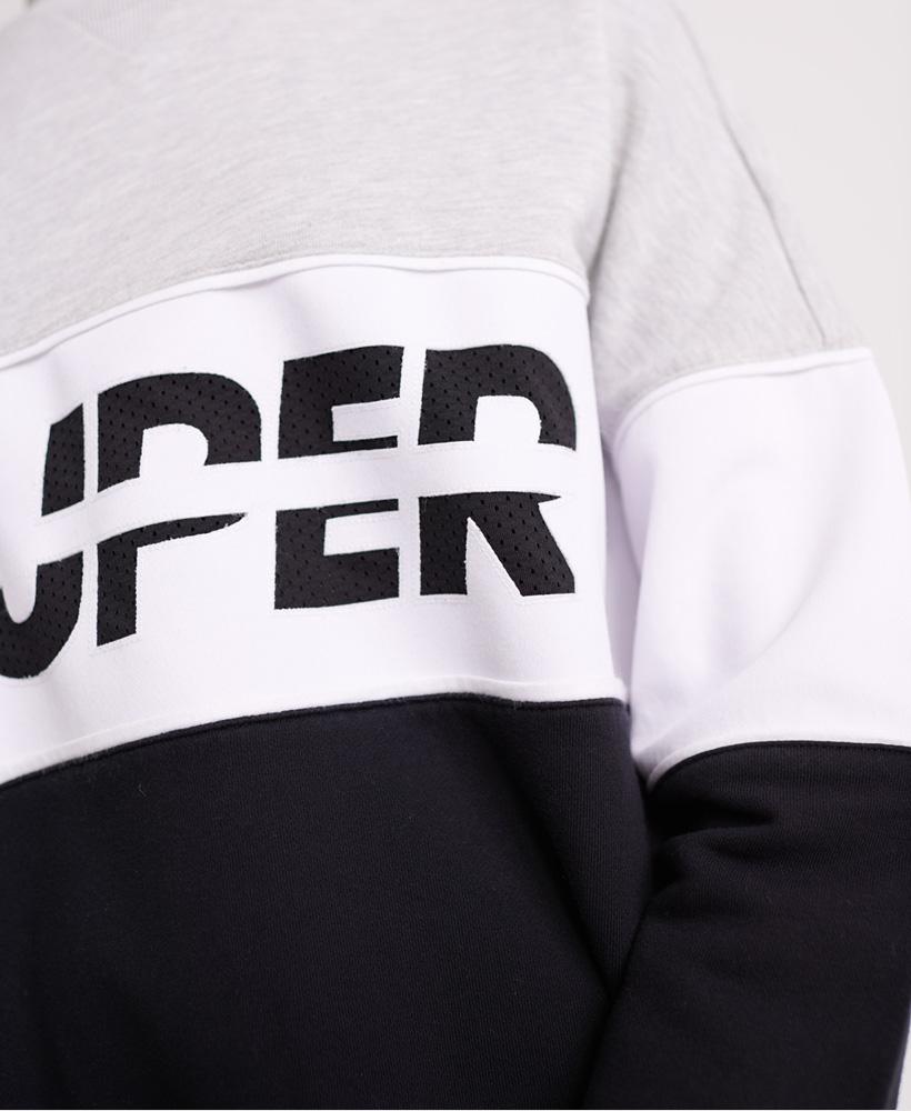 Superdry Damen Sport Pusher Sweatshirt Mit Rundhalsausschnitt