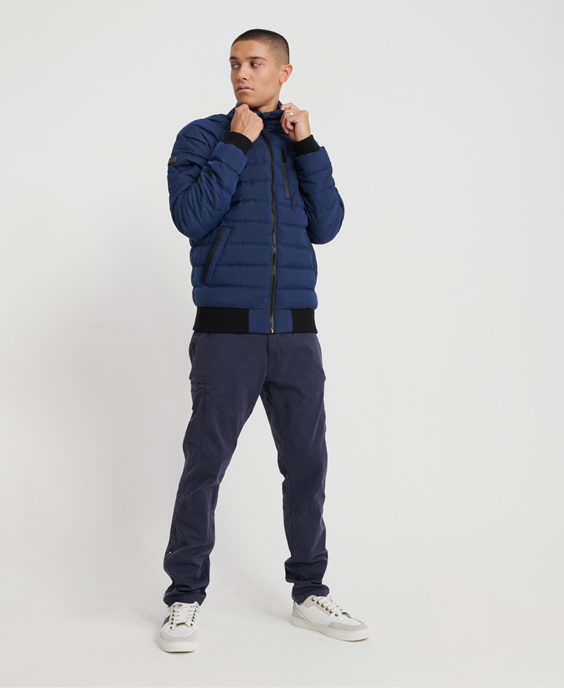 Superdry-Mens-Commuter-Quilted-Bomber-Jacket thumbnail 7