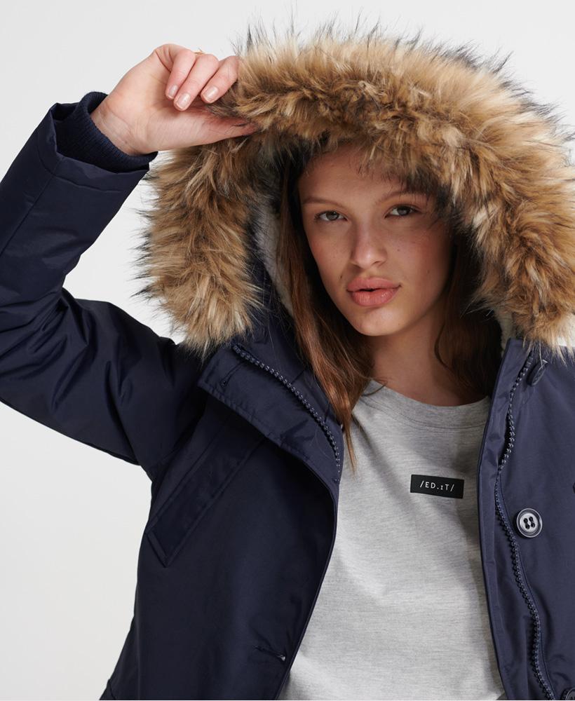 Superdry-Womens-Everest-Parka-Jacket thumbnail 11