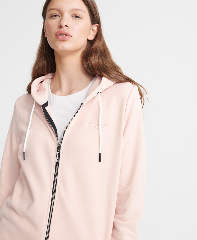 Superdry-Damen-Elite-Loopback-Kapuzenjacke-Aus-Der-Orange-Label-Kollektion Indexbild 11