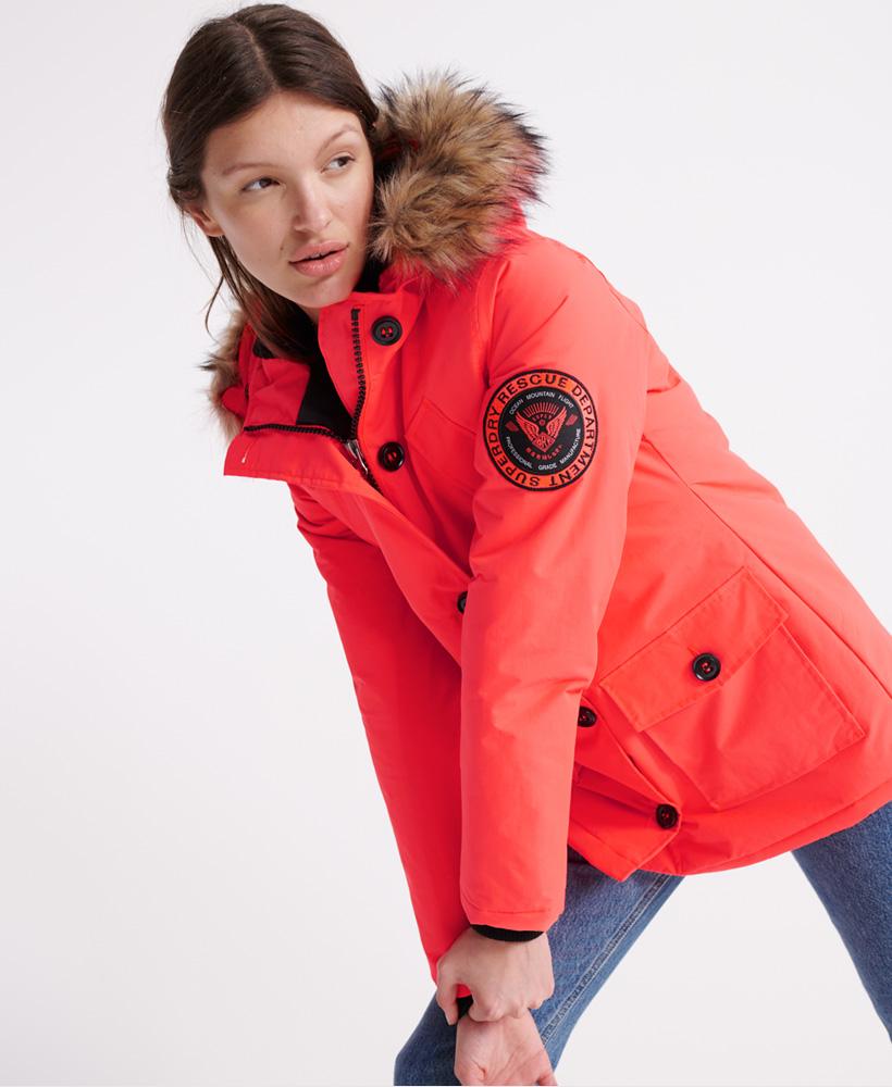Superdry-Womens-Everest-Parka-Jacket thumbnail 7
