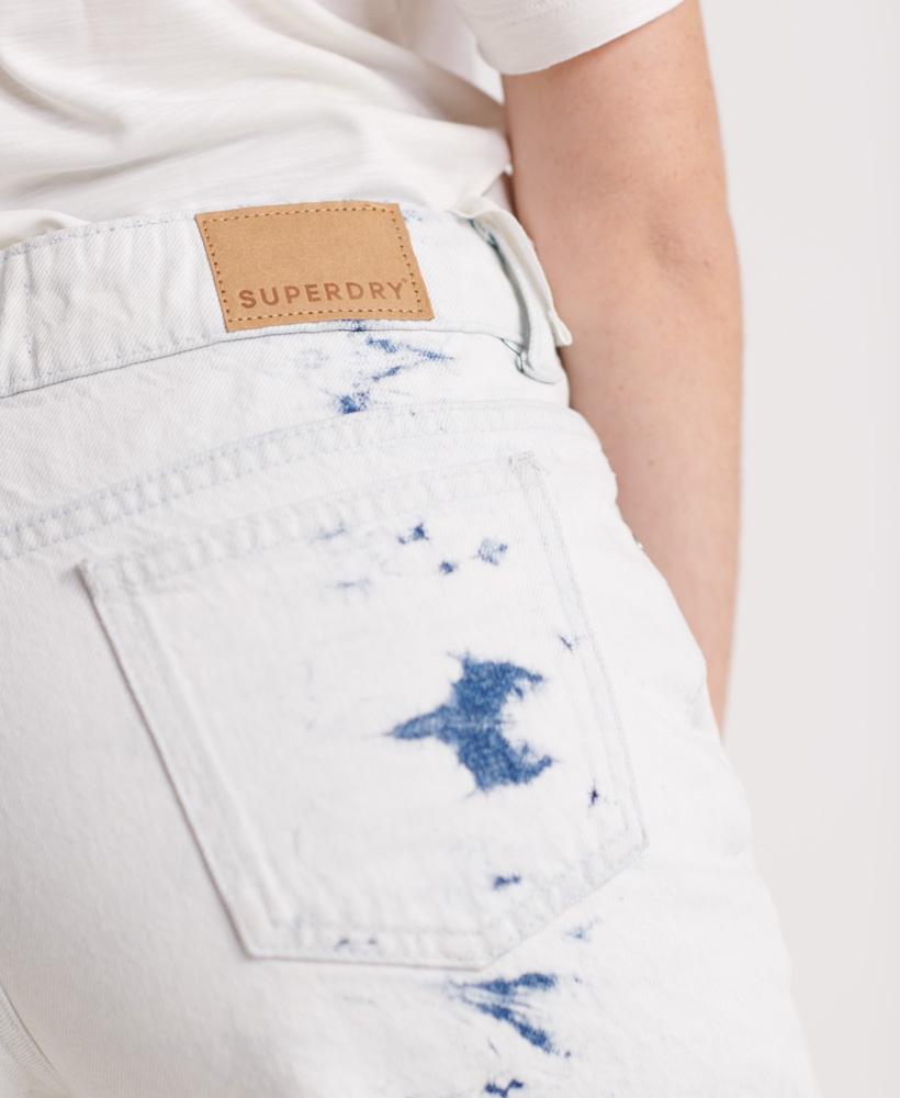 Indexbild 10 - Superdry Damen Mittellange Denim-Shorts