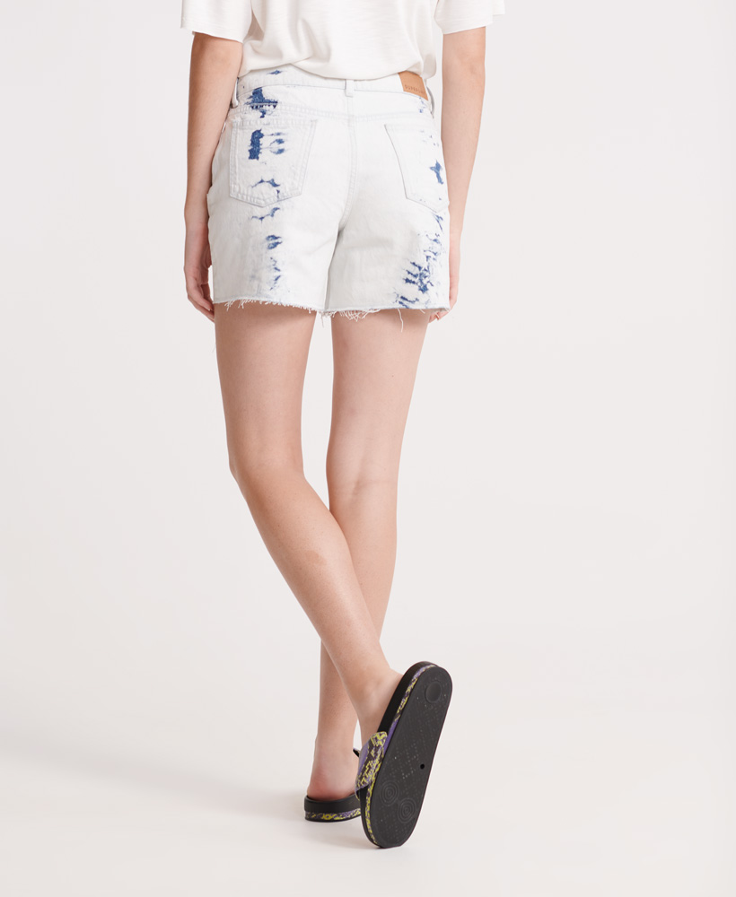 Indexbild 9 - Superdry Damen Mittellange Denim-Shorts