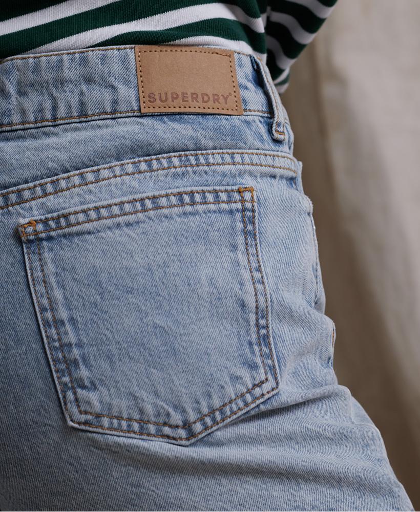 Indexbild 20 - Superdry Damen Mittellange Denim-Shorts
