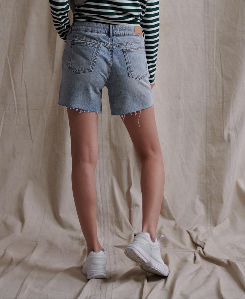 Indexbild 19 - Superdry Damen Mittellange Denim-Shorts
