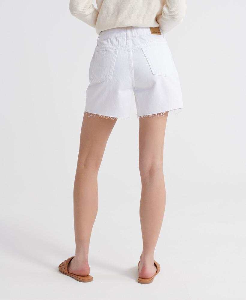 Indexbild 28 - Superdry Damen Mittellange Denim-Shorts