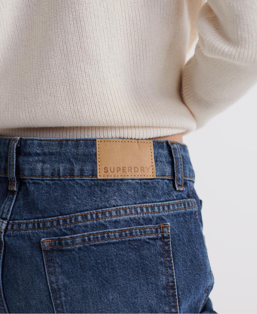 Indexbild 23 - Superdry Damen Mittellange Denim-Shorts