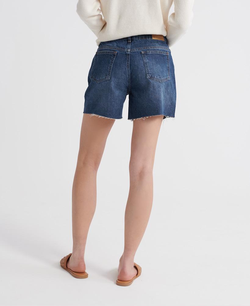 Indexbild 22 - Superdry Damen Mittellange Denim-Shorts