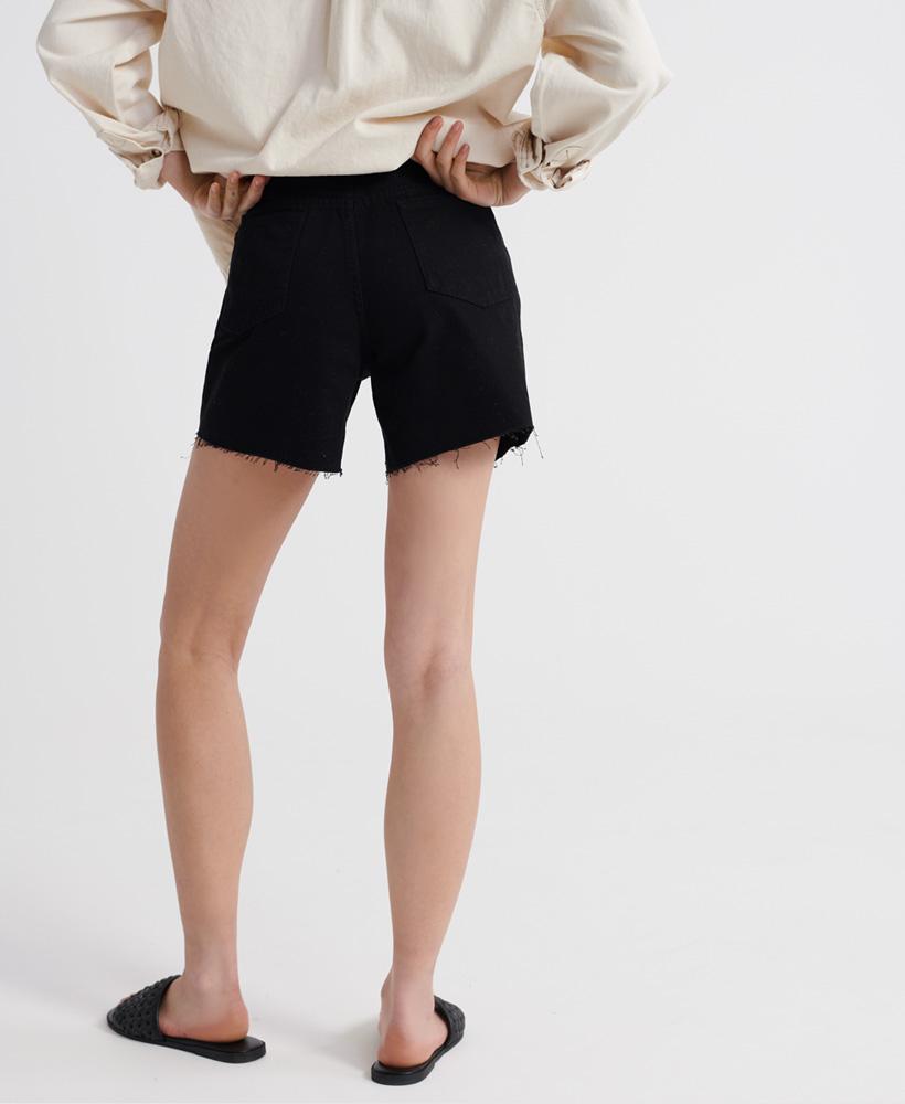 Indexbild 12 - Superdry Damen Mittellange Denim-Shorts