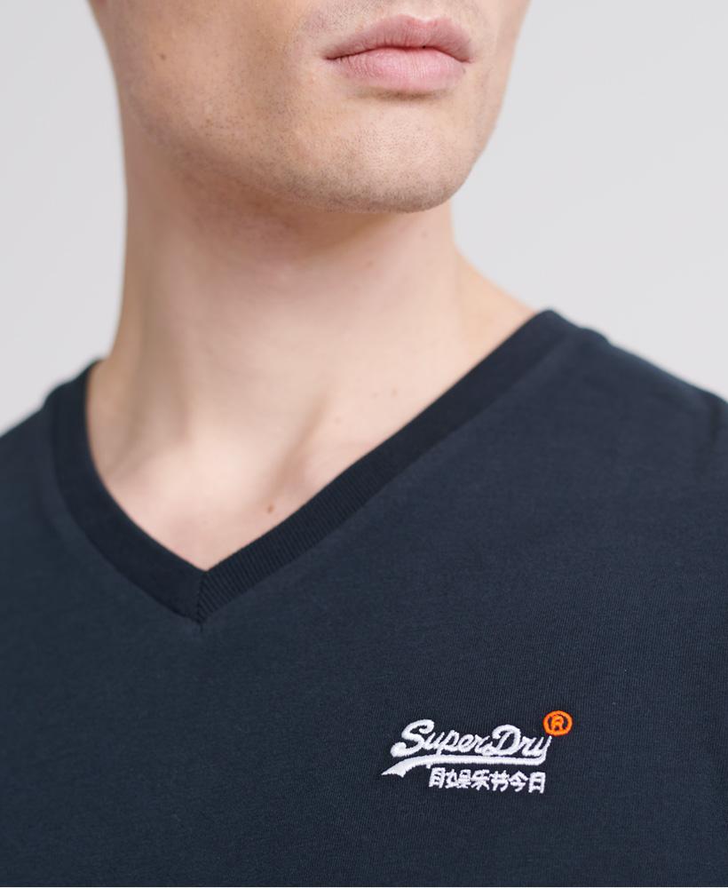 thumbnail 16 - Superdry Mens Orange Label Vintage Embroidery V-Neck T-Shirt