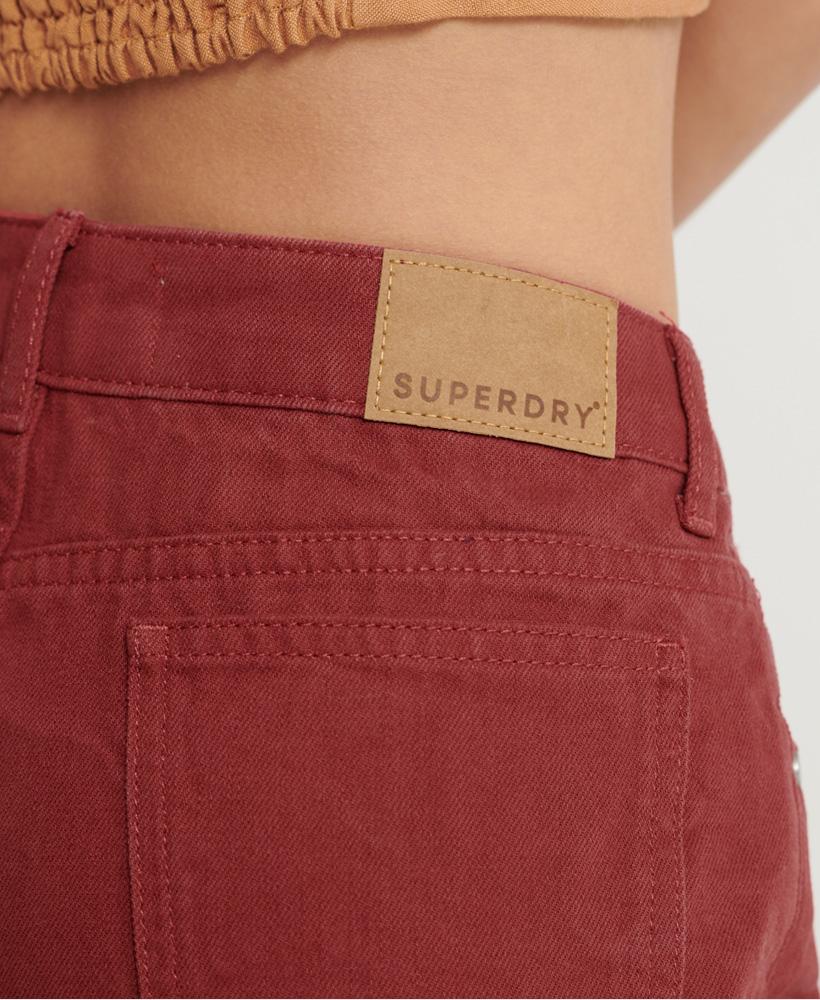 Indexbild 17 - Superdry Damen Mittellange Denim-Shorts