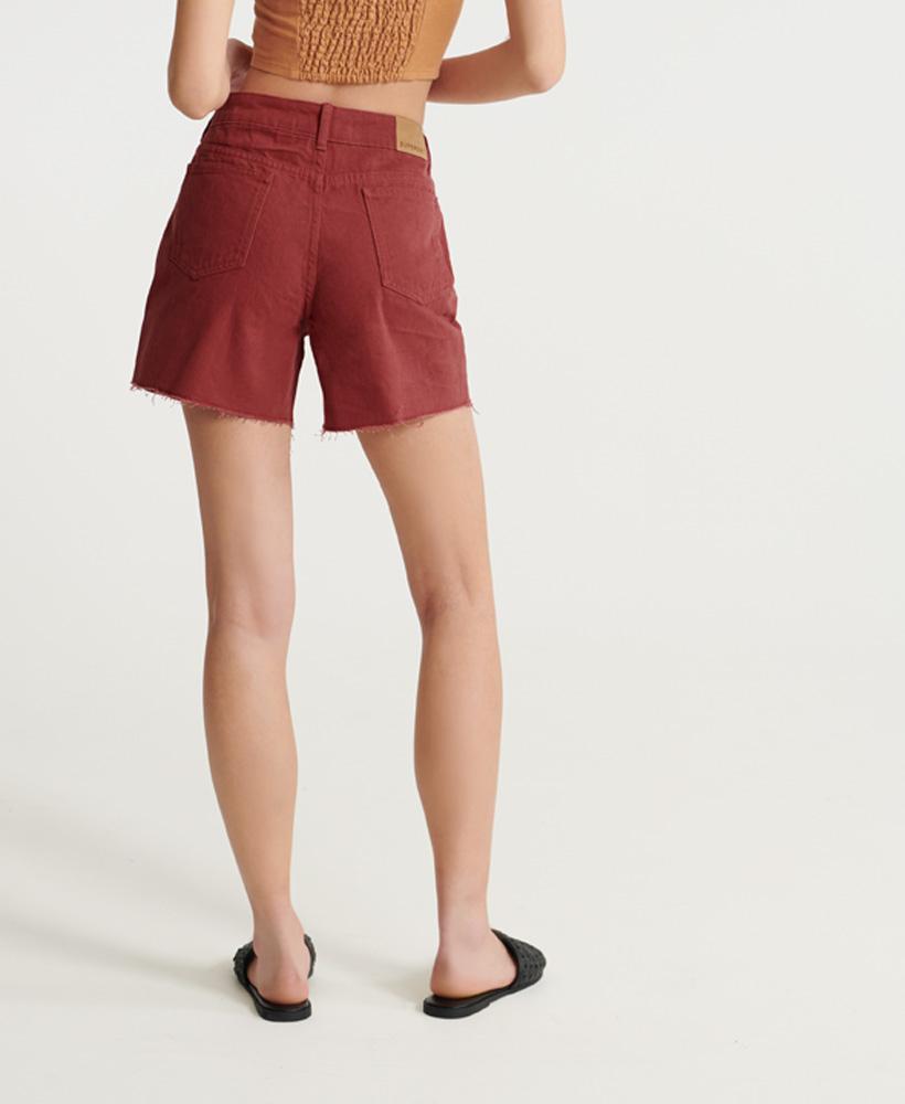 Indexbild 15 - Superdry Damen Mittellange Denim-Shorts