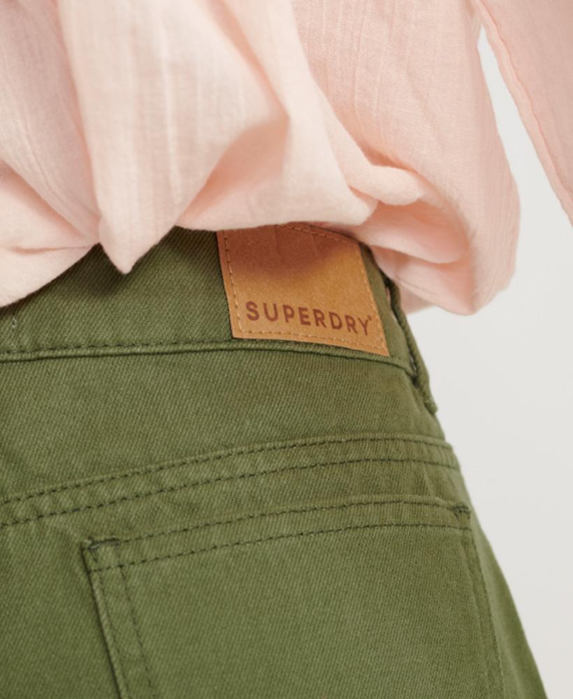 Indexbild 33 - Superdry Damen Mittellange Denim-Shorts