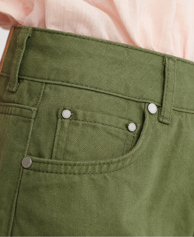 Indexbild 32 - Superdry Damen Mittellange Denim-Shorts