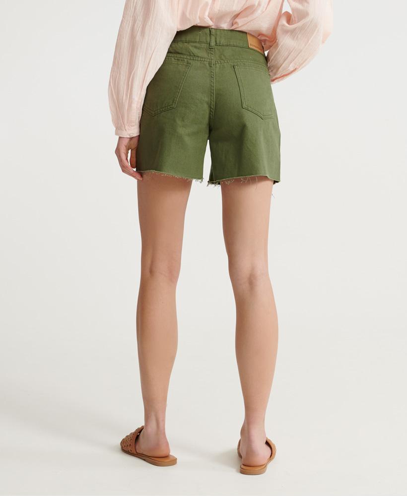 Indexbild 31 - Superdry Damen Mittellange Denim-Shorts
