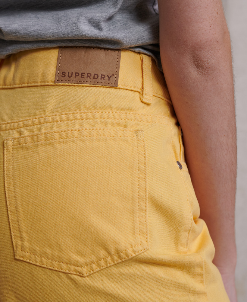 Indexbild 7 - Superdry Damen Mittellange Denim-Shorts