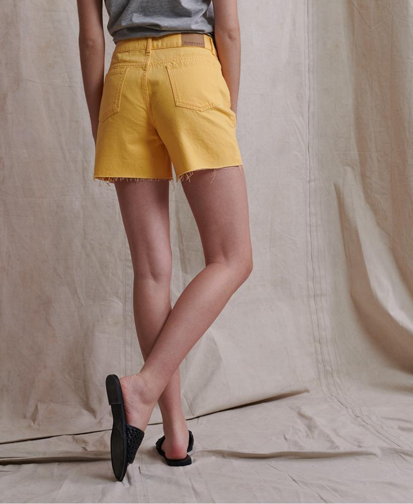 Indexbild 5 - Superdry Damen Mittellange Denim-Shorts