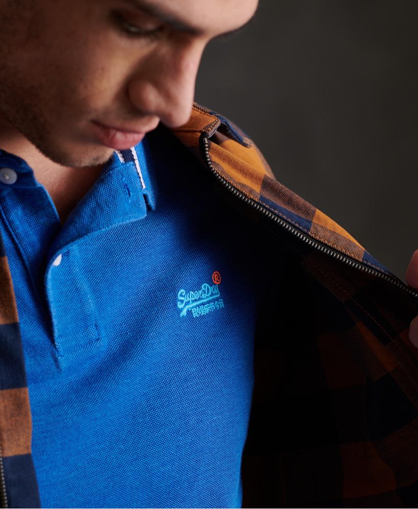 thumbnail 45 - Superdry Mens Organic Cotton Classic Pique Polo Shirt